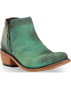 Liberty Black Women's Vegas Turquesa Double Zip Booties - Round Toe , Turquoise, hi-res