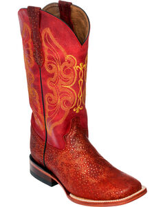 Ferrini Red Sparkle Cowgirl Boots - Square Toe, Red, hi-res