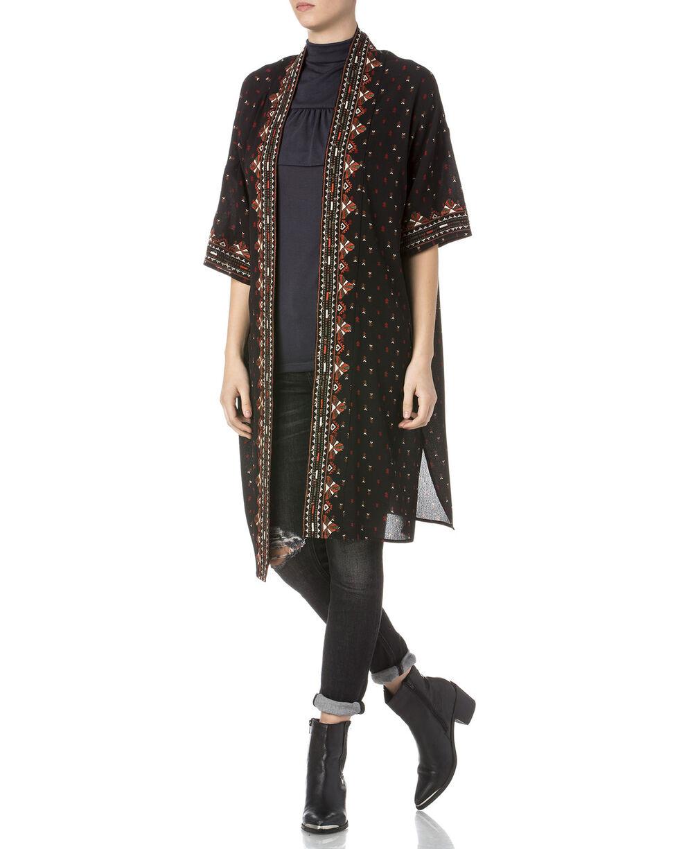 Miss Me Women's Embroidered Kimono , Multi, hi-res