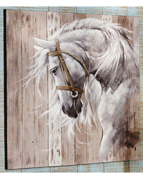 Giftcraft Horse Head Acrylic Paint Canvas Wall Decor , Beige/khaki, hi-res