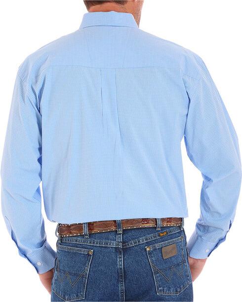 Wrangler Men's Blue George Strait Long Sleeve Checkered Shirt , Blue, hi-res