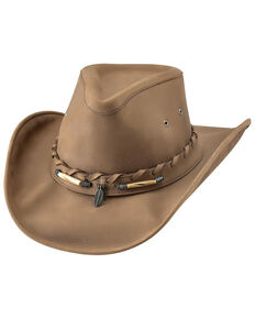 Bullhide Camel Briscoe Top Grain Leather Western Hat , Camel, hi-res