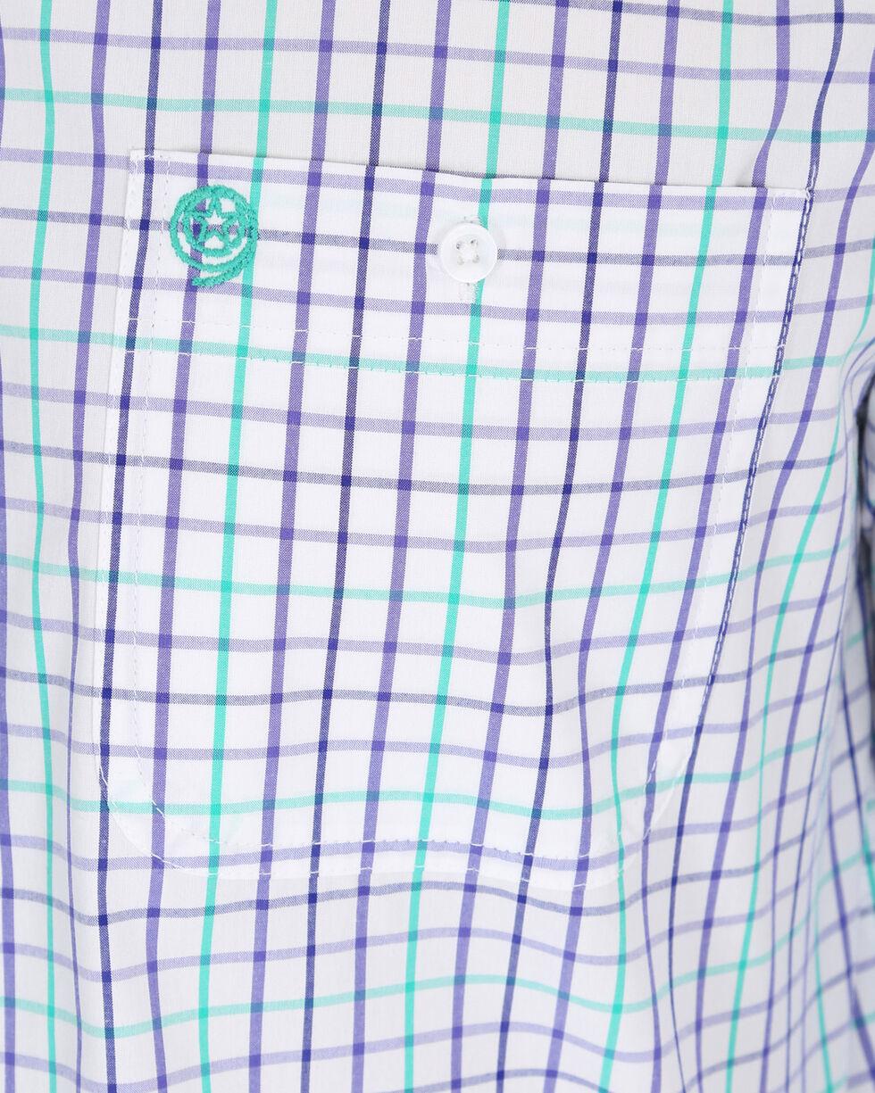 Wrangler Men's Purple George Strait Small Plaid Shirt , Purple, hi-res