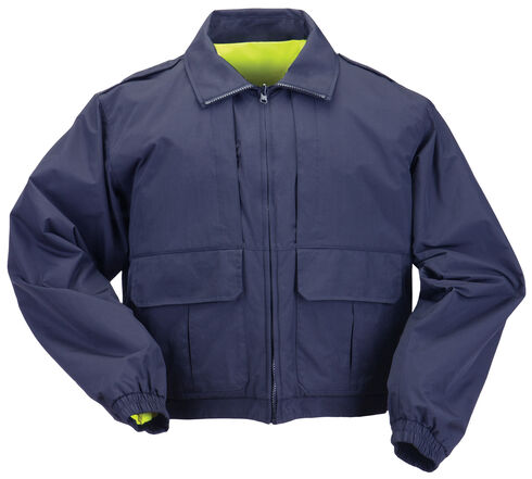 5.11 Tactical Reversible High-Visibility Duty Jacket - 3XL and 4XL, Navy, hi-res