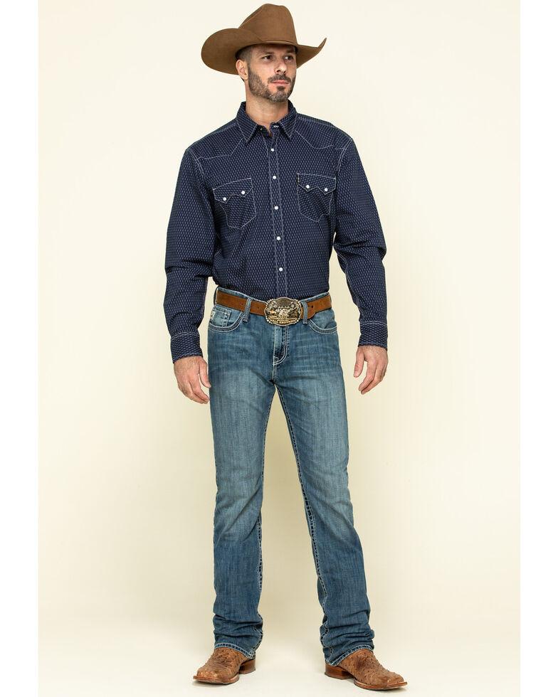 Cinch Men's Ian Med Stonewash Mid Slim Bootcut Jeans , Indigo, hi-res