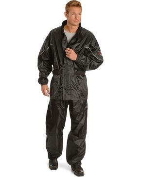 Milwaukee Unisex Motorcycle Rain Suit, Black, hi-res