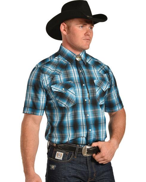 Ely Cattleman Men's Green Textured Plaid Shirt , Green, hi-res