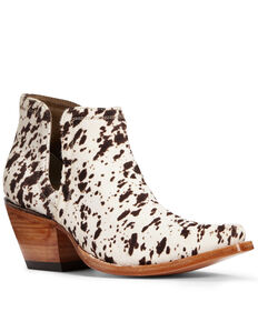 Ariat Women's Dixon Hair-On Cow Print Fashion Booties - Snip Toe, Multi, hi-res