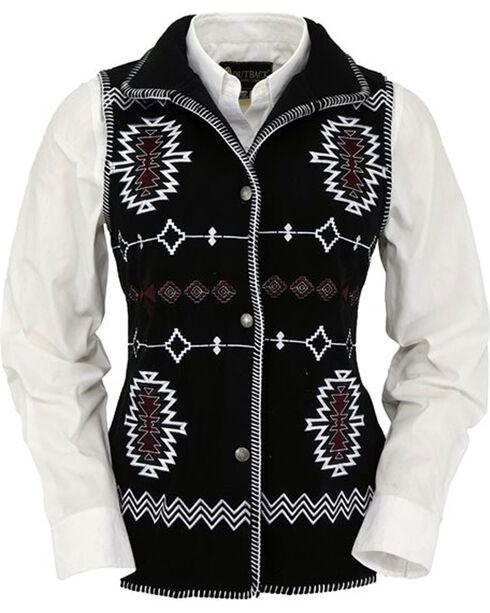 Outback Trading Co. Women's Black Santa Fe Vest , Black, hi-res