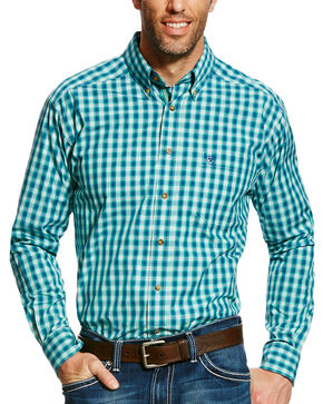 Ariat Men's Green Dimitri Plaid Western Shirt , Green, hi-res