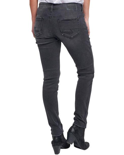 Silver Women's Kenni Color Wash Girlfriend Jeans, Black, hi-res