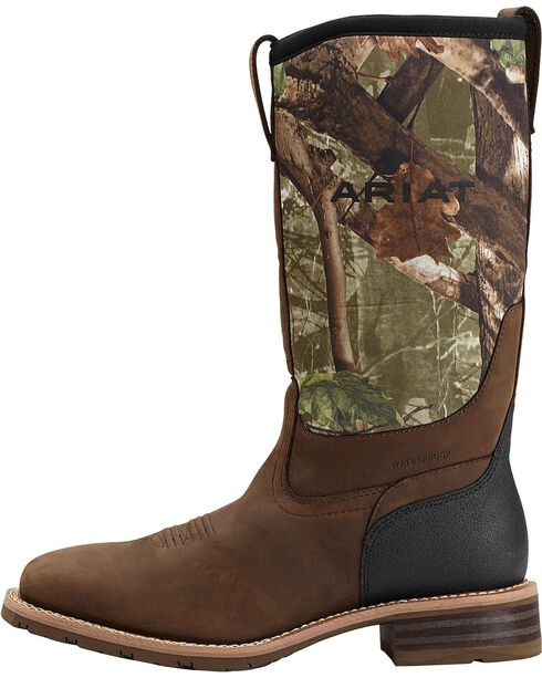 Ariat Hybrid All Weather Waterproof Camo Neoprene Work Boots - Square Toe, , hi-res