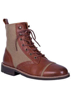 Dingo Men's Andy Lace Boots - Round toe, Brown, hi-res