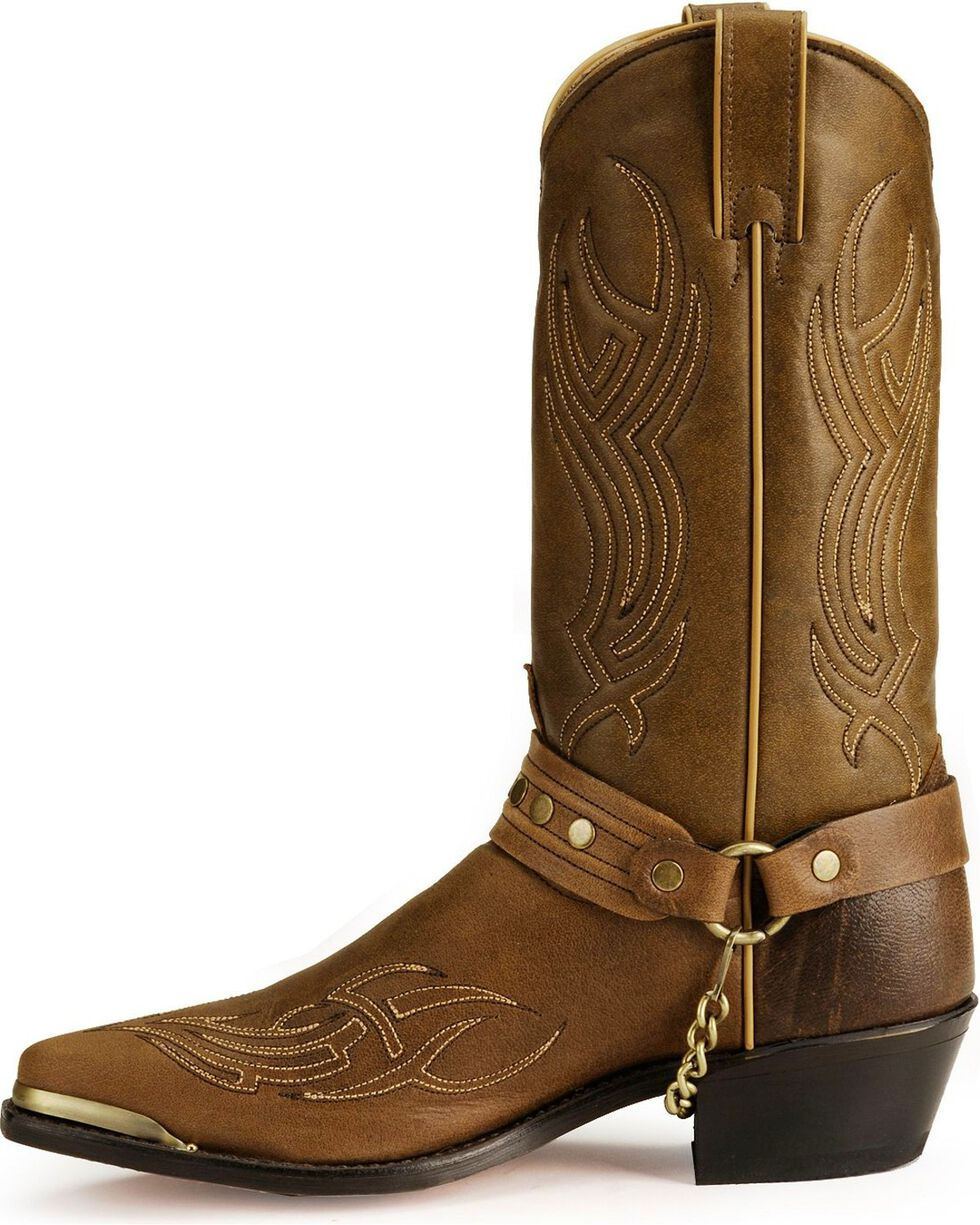 Sage by Abilene Studded Harness Boots, Brown, hi-res