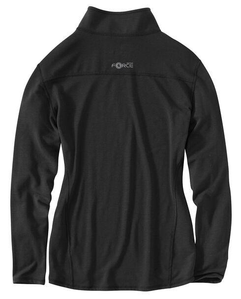 Carhartt Force Performance Quarter Zip Long Sleeve Top, Black, hi-res