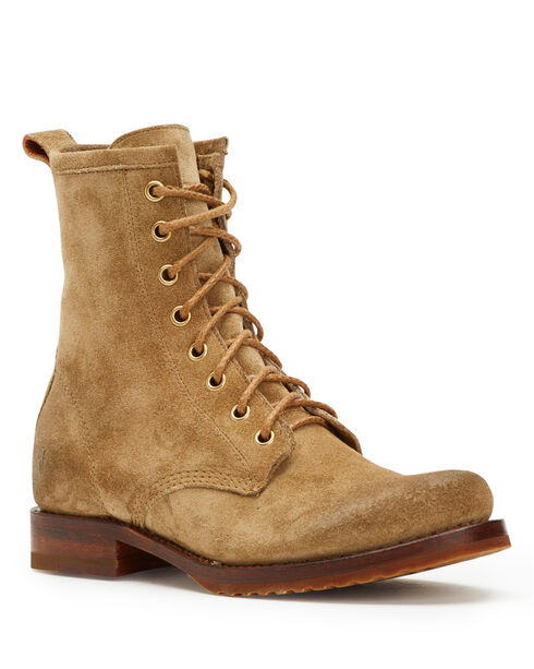 Frye Women's Sand Veronica Combat Boots - Round Toe, Sand, hi-res