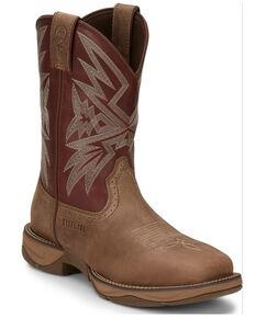 Tony Lama Men's Bartlett Light Tan Western Boots - Square Toe, Brown, hi-res