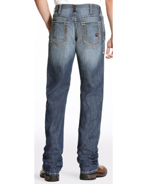 Ariat Men's FR M4 Inherent Boundary Low Rise Jeans - Boot Cut, Blue, hi-res
