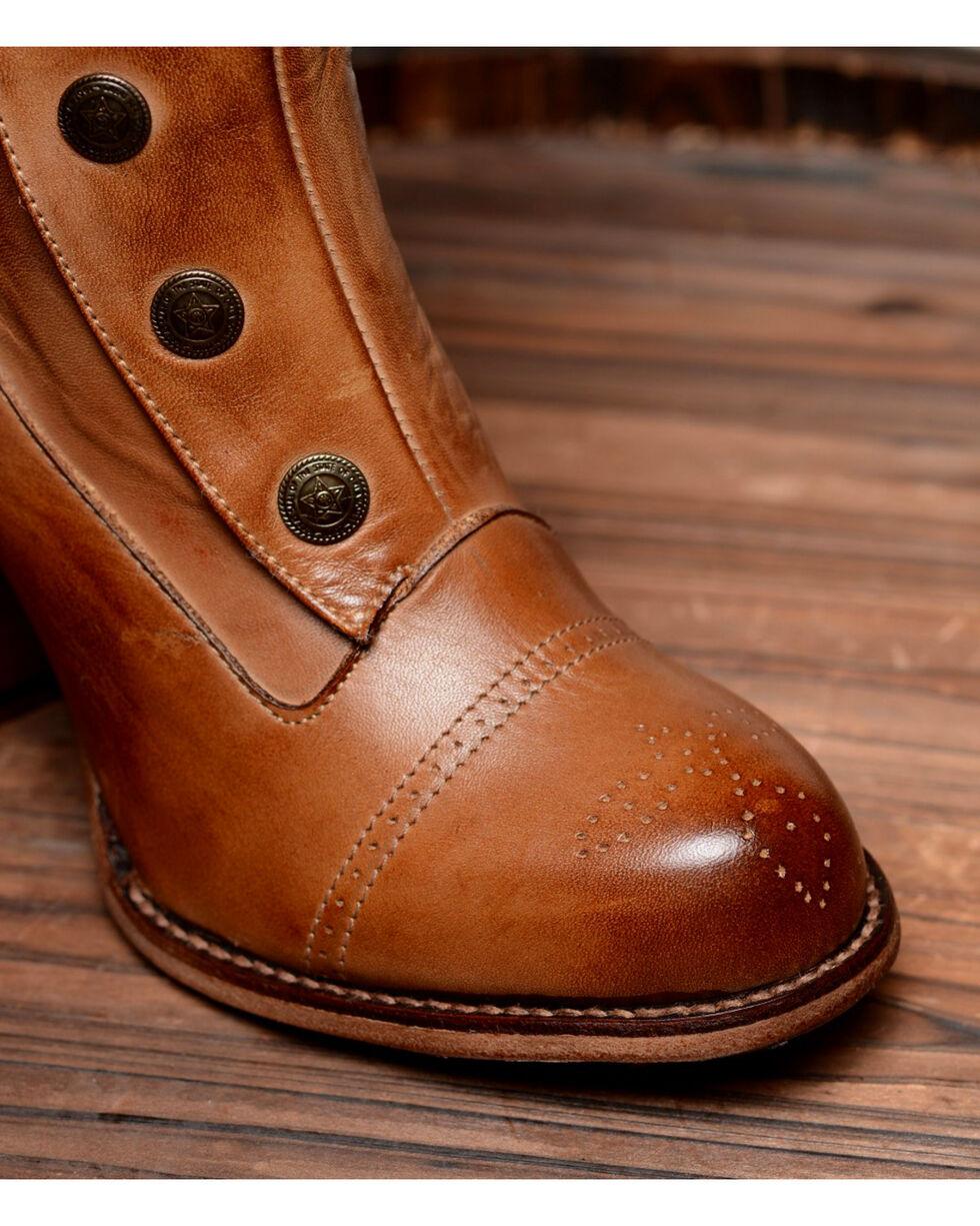 Oak Tree Farms Tan Amelia Rustic Boots - Round Toe, Tan, hi-res