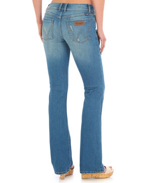 Wrangler Women's Distressed Wash Retro Mae Jeans , Indigo, hi-res
