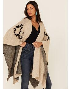 Idyllwind Women's Cozy Southwestern Shawl, Tan, hi-res