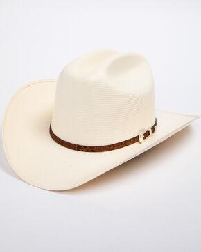 Cody James Men's Panama Faux Gator Cognac Marlboro Cowboy Hat, Natural, hi-res