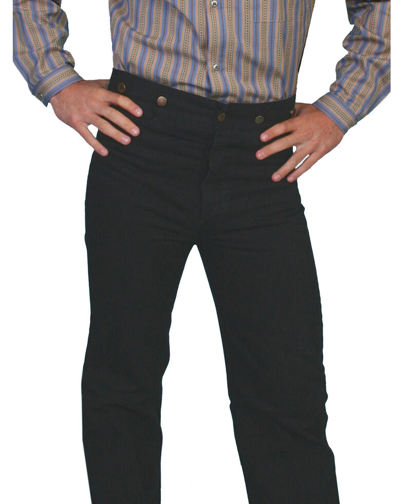 Scully Rangewear Men's Canvas Pants - Big & Tall, Black, hi-res