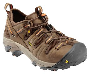 Keen Men's Utility Atlanta Cool Shoes - Steel Toe, Forest Green, hi-res