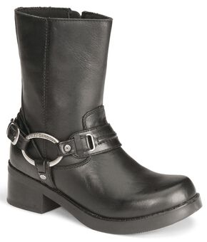 Harley Davidson Christa Women's Harness Boots , Black, hi-res