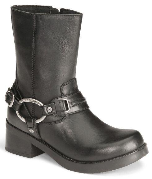 Harley Davidson Christa Women's Harness Boots , Black, hi-res