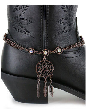 Shyanne Women's Dream Catcher Boot Bracelet , Brown, hi-res