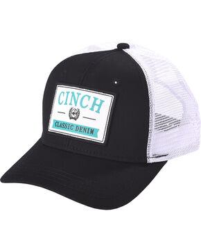 Cinch Men's Black Mesh Back Classic Trucker Cap , Black, hi-res