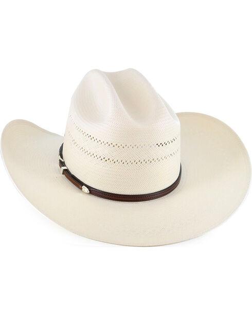 Resistol Men's George Strait 10X Straw Hat, Natural, hi-res