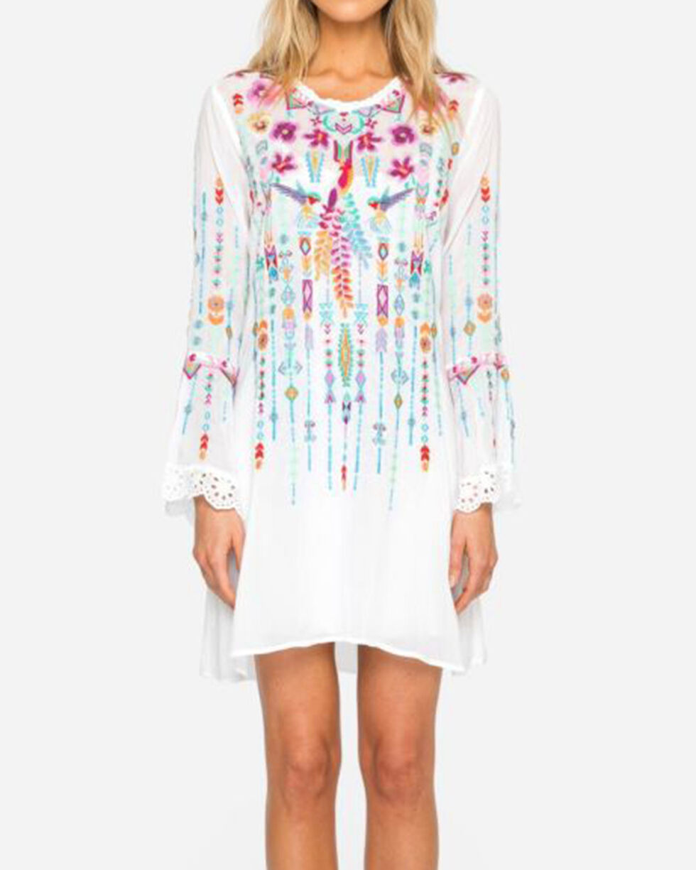 Johnny Was Women's White Lulu Tunic, White, hi-res
