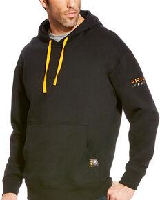 Ariat Men's Rebar Logo Work Hooded Sweatshirt - Big & Tall, Black, hi-res