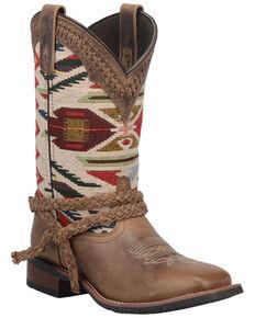 Laredo Women's Kayenta Western Boots - Wide Square Toe, Brown, hi-res