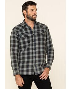 Cody James Men's Koa Wash Plaid Long Sleeve Western Flannel Shirt , Navy, hi-res