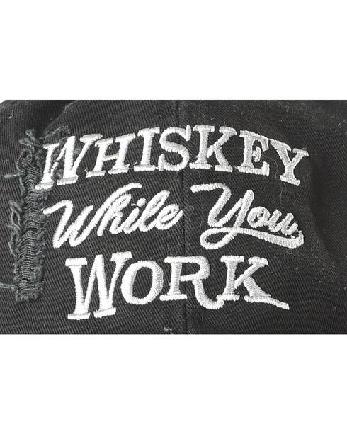 Cody James Men's Whiskey While You Work Ball Cap, Black, hi-res