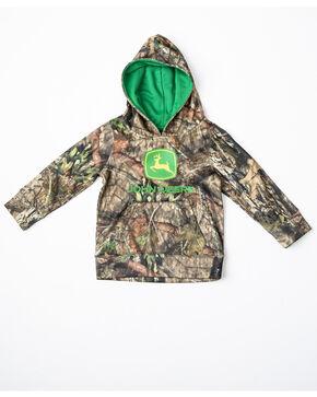 John Deere Toddler Boys' Mossy Oak Print Logo Fleece Hoodie , Camouflage, hi-res