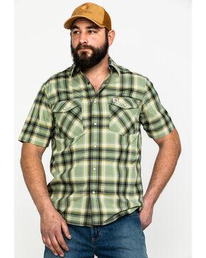Carhartt Men's Green Solid Rugged Flex Rigby Short Sleeve Work Shirt - Tall , Green, hi-res