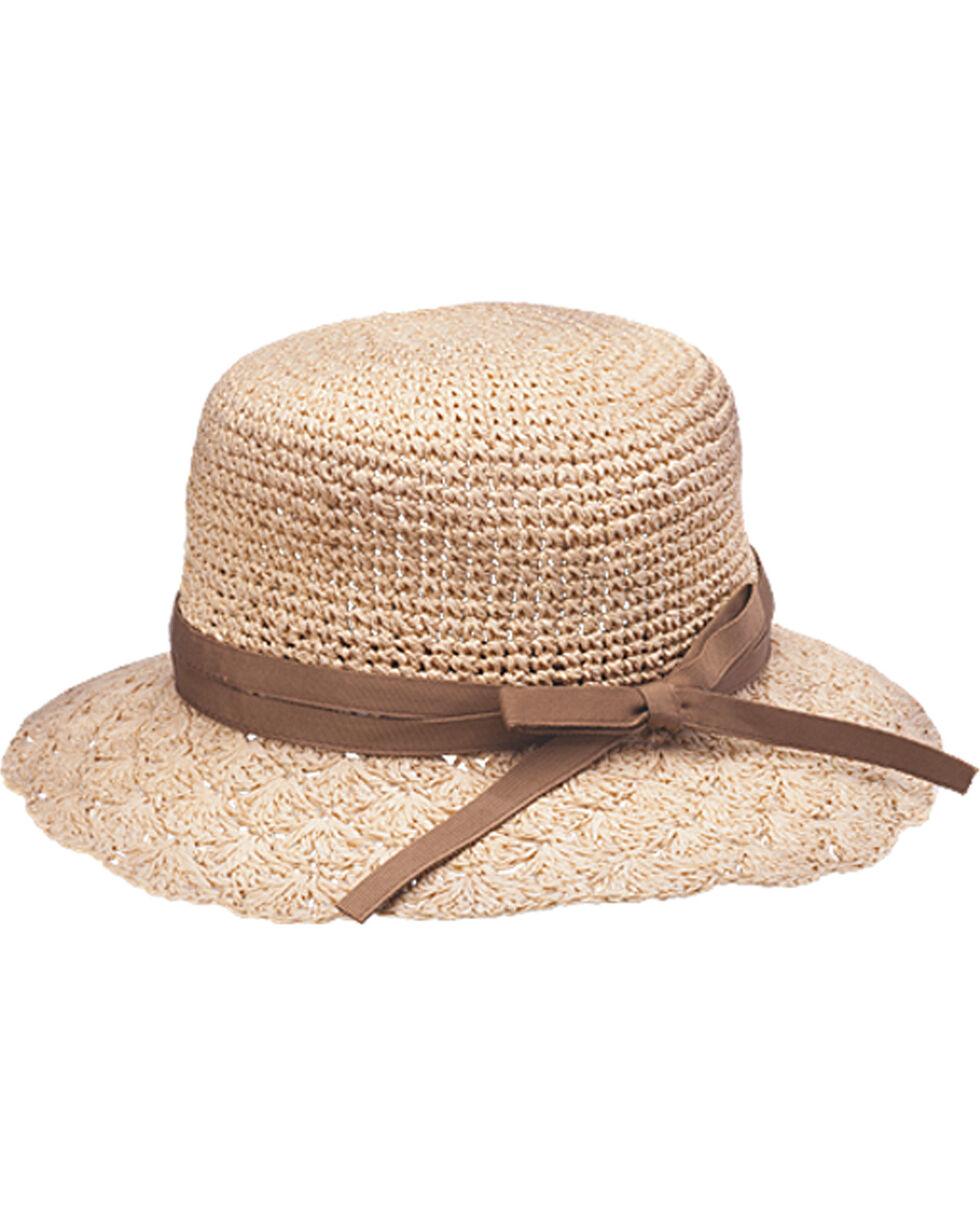 Peter Grimm Phoebe Brown Ribbon Sun Hat, Brown, hi-res