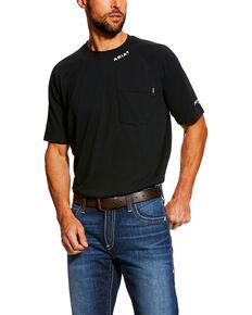 Ariat Men's FR Baselayer Short Sleeve Work Shirt, Black, hi-res