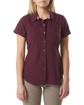 5.11 Tactical Women's Freedom Flex Woven Shirt , Wine, hi-res