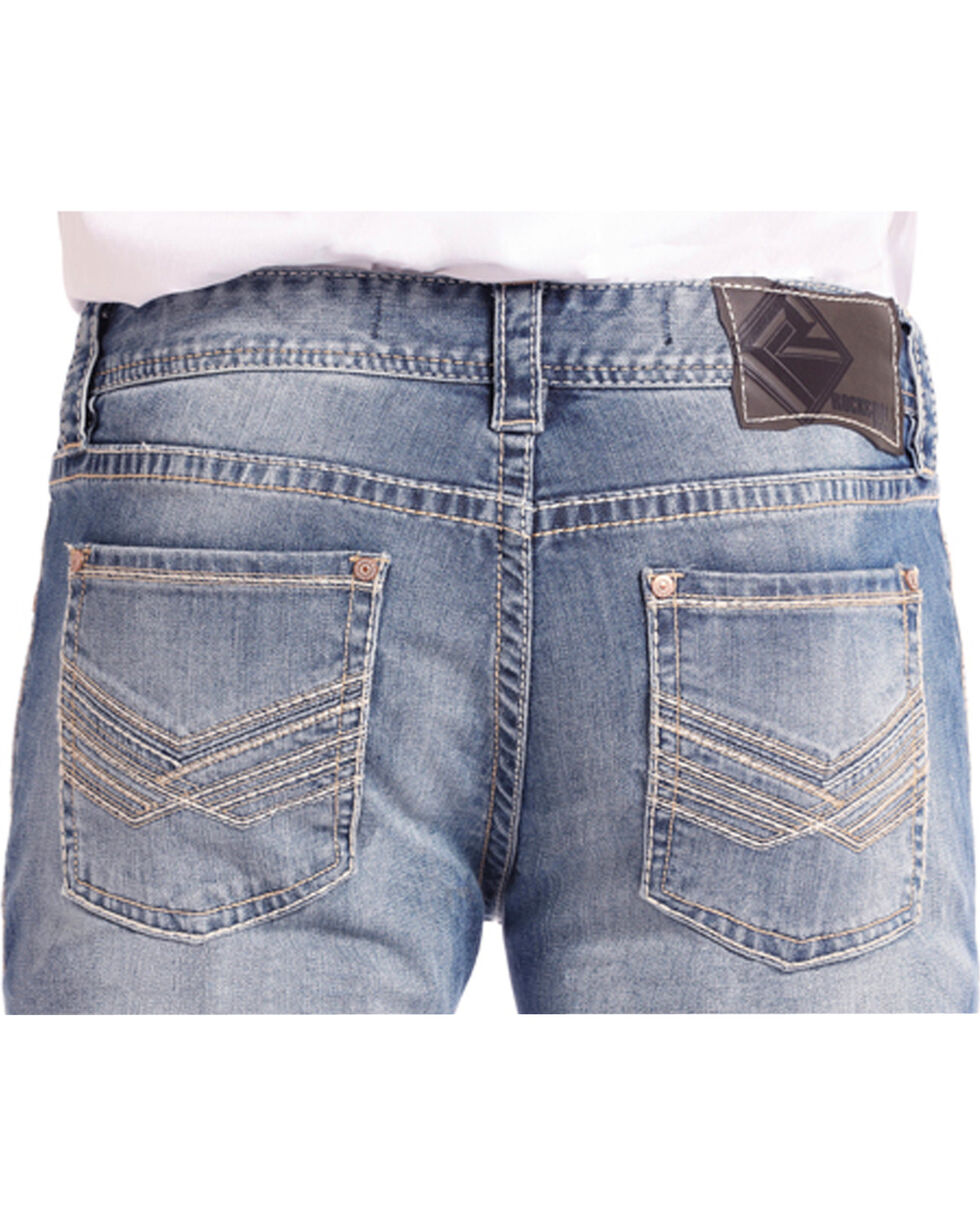 Rock & Roll Cowboy Men's Reflex Pistol Light Vintage Wash Jeans - Straight Leg, Light Blue, hi-res
