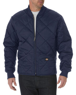 Dickies Diamond Quilted Nylon Work Jacket, Navy, hi-res