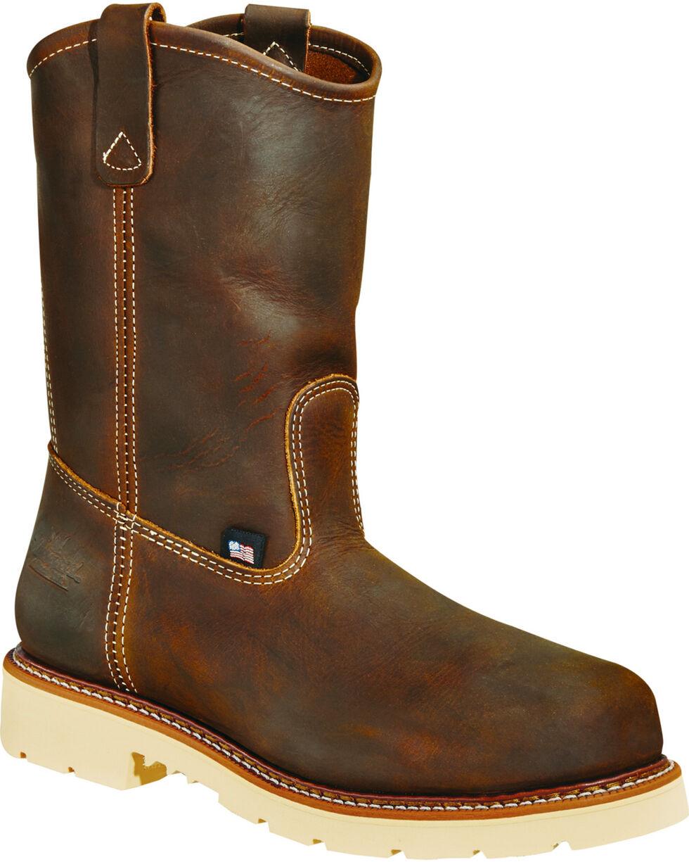 "Thorogood Men's 11"" American Heritage MAXwear 90 Wellington Work Boots - Soft Toe, Brown, hi-res"
