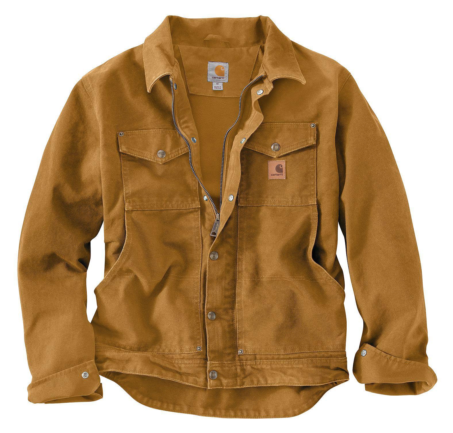 Carhartt sandstone jean jacket sherpa lined (for men)