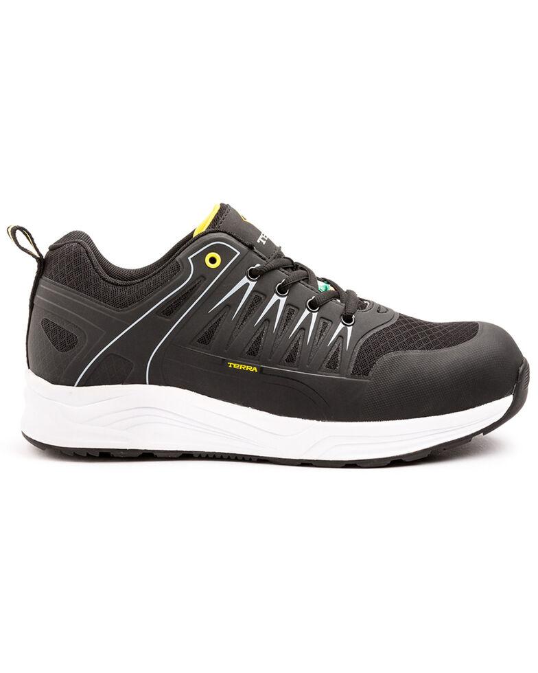 Terra Men's Rebound Black Work Shoes - Composite Toe, Black, hi-res