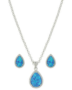 Montana Silversmiths Women's River Lights Perfect Drops Jewelry Set, Silver, hi-res