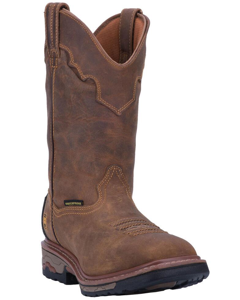 Dan Post Blayde Waterproof Wellington Work Boots - Square Toe, Saddle Tan, hi-res